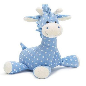 blue stuffed customized polyester horse plush toys for crane machine
