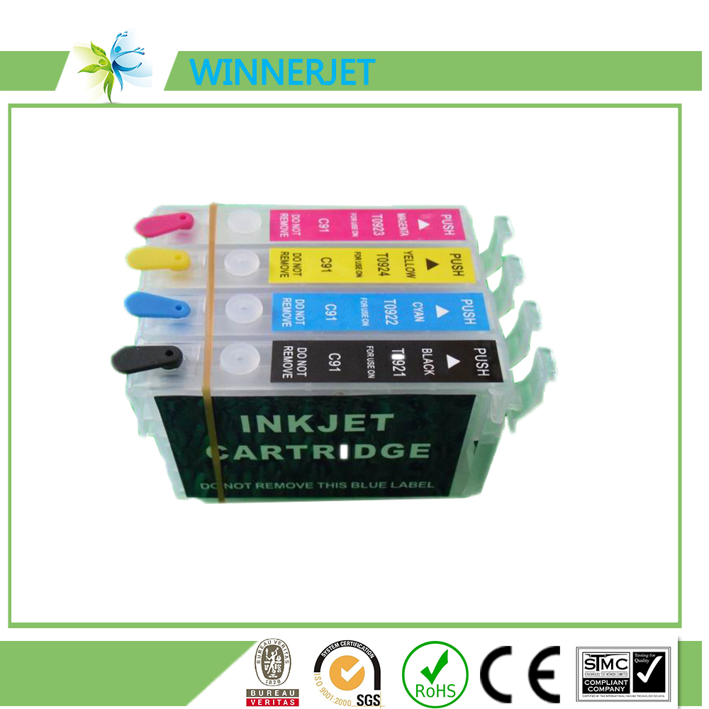 T0921-T0924 factory price Refill Ink cartridge For EPSON Stylus T27 C91 CX4300 T26 TX106 TX109 TX117 TX119 printers