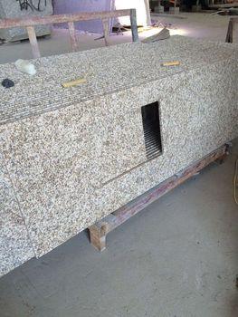 Elite Stone White Petunia Granite Prefab Bathroom Countertop