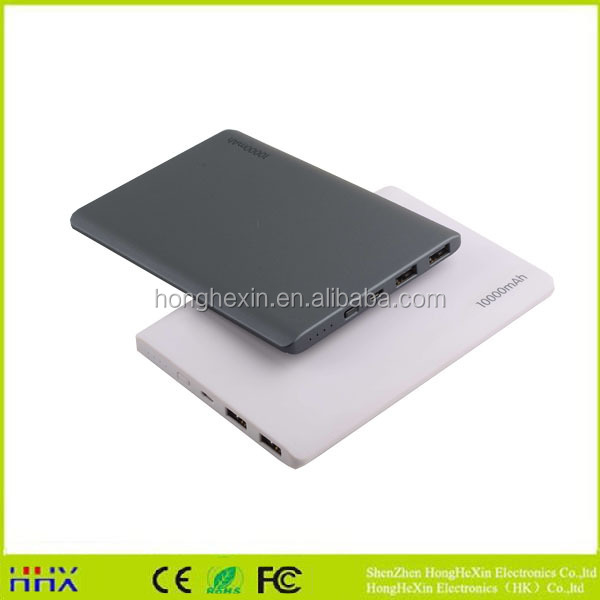 New wholesale products aluminum custom universal slim power bank 10000mah phone charger