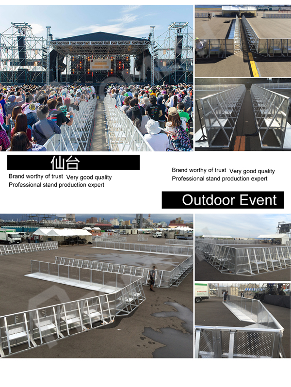 Project in Japan Aluminum Concert Barrier
