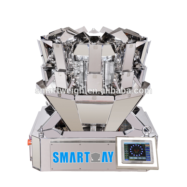 0.5l bucket sw-ms10 small 10 head dog food multihead weigher packing machine