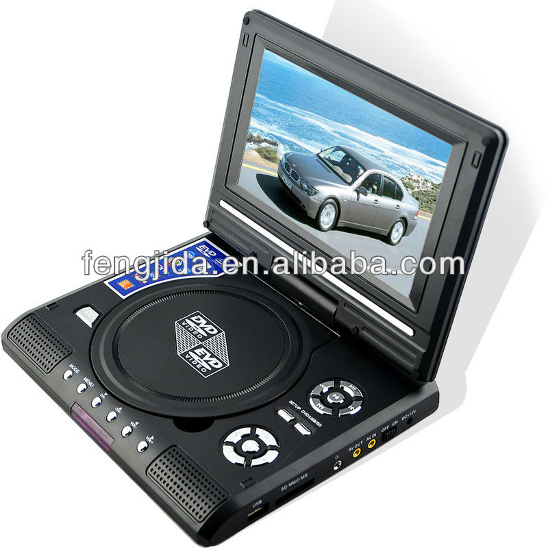 2014 tltra super slim car portable dvd player