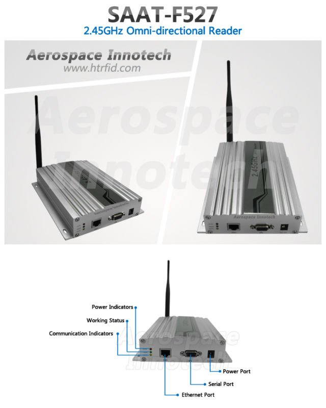 2.45ghz Active RFID/Active Omni-directional Reader