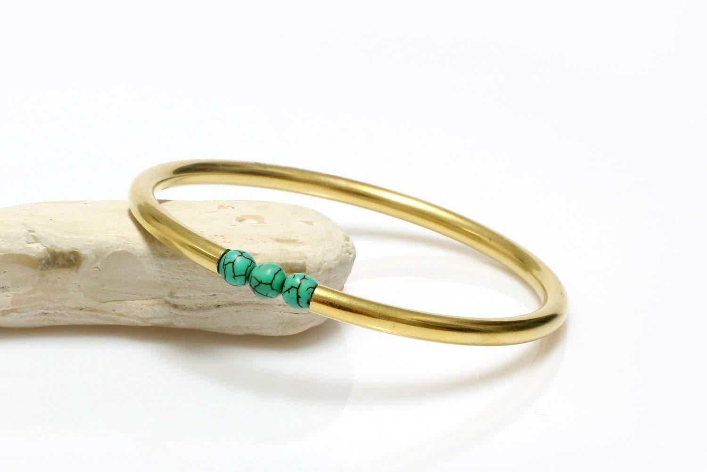 simple stone bracelet,simple beaded bracelet,14k gold bracelet,gold bangle bracelet,Turquoise bracelet