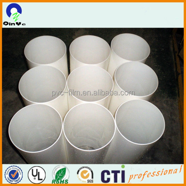 large diameter white colour acrylic tube/PMMA cylinder pipe