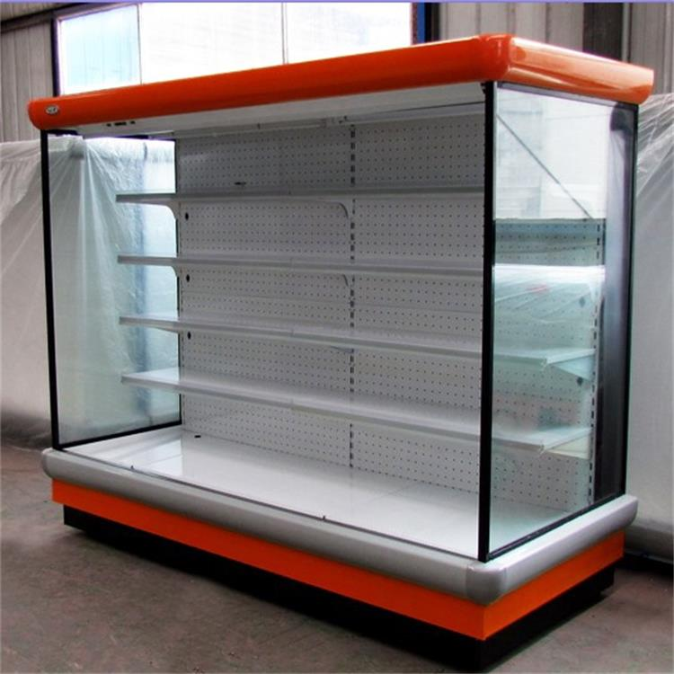 Fashional supermarket display counter commercial refrigerator for cheese / drink / fruit