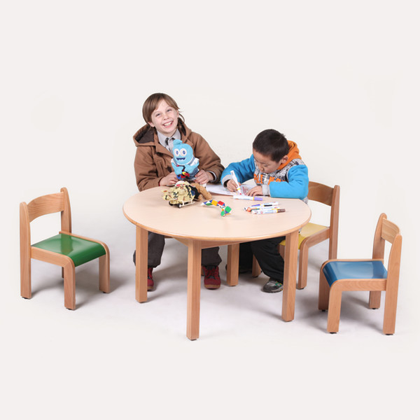 YR Solid wood children table chair, kids party furniture play table style