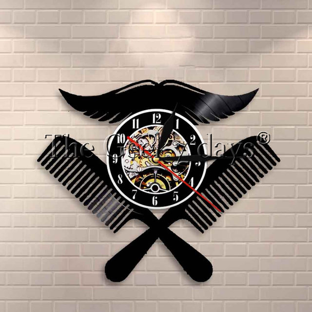 Online Shop 1 pezzo Negozio di Barbiere Logo Disco In Vinile ... f60ea3455971