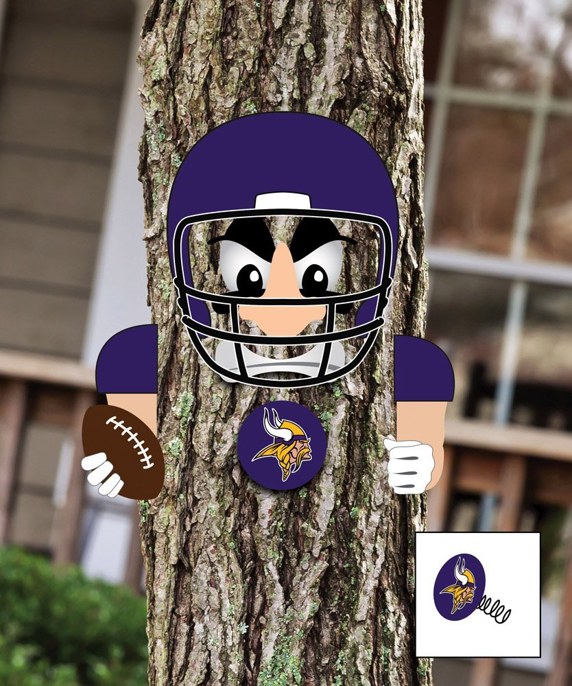 NFL Player Tree Face Statue NFL Team: Minnesota Vikings