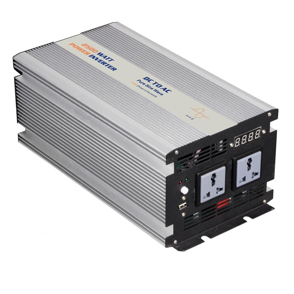 Eyourlife 2500W (Peak 5000W) Pure Sine Wave Car Power Inverter Adapter USB 24V DC to 110V AC