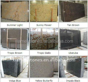 Different Color Granite Rock