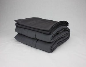 Weighted Blanket Factory Bamboo Grey Sensory Blanket Set 10 lbs for Adults