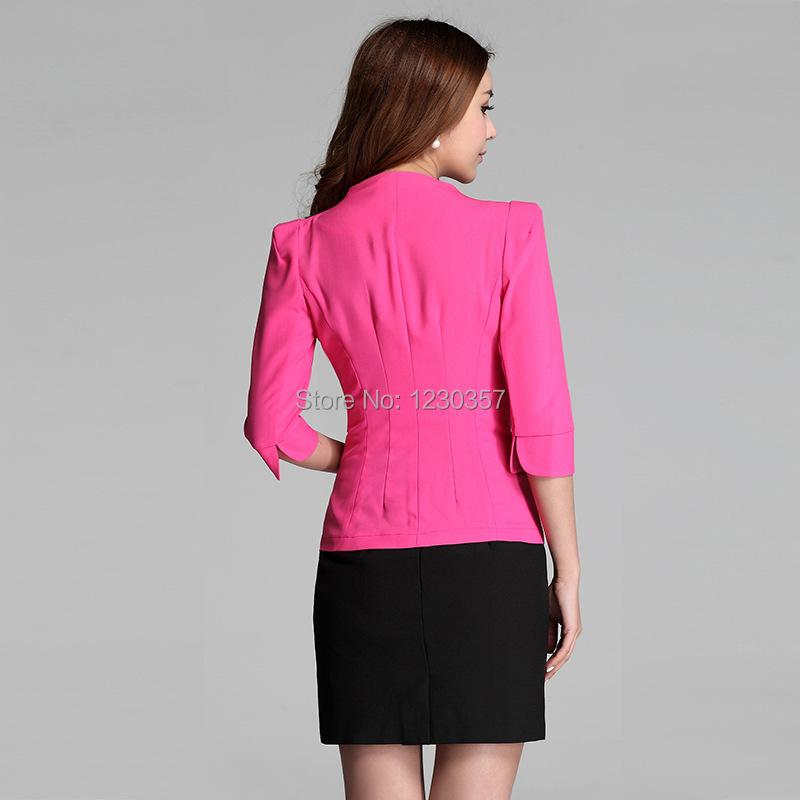 Новый 2014 лето женский пиджак женские деловые костюмы формальные офисные костюмы рабочая одежда офис едином стиле для салона красоты