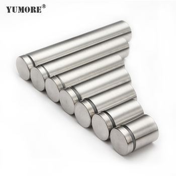 Wall Mounted Small Stainless Steel Silver Self-tapping Bolts Nut Pin Aluminum Brass Wooden Acrylic Led Sign Glass Screw Standoff