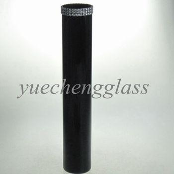 Tall Black Bling Cylinder Glass Vase Wholesale Buy Glass Vases