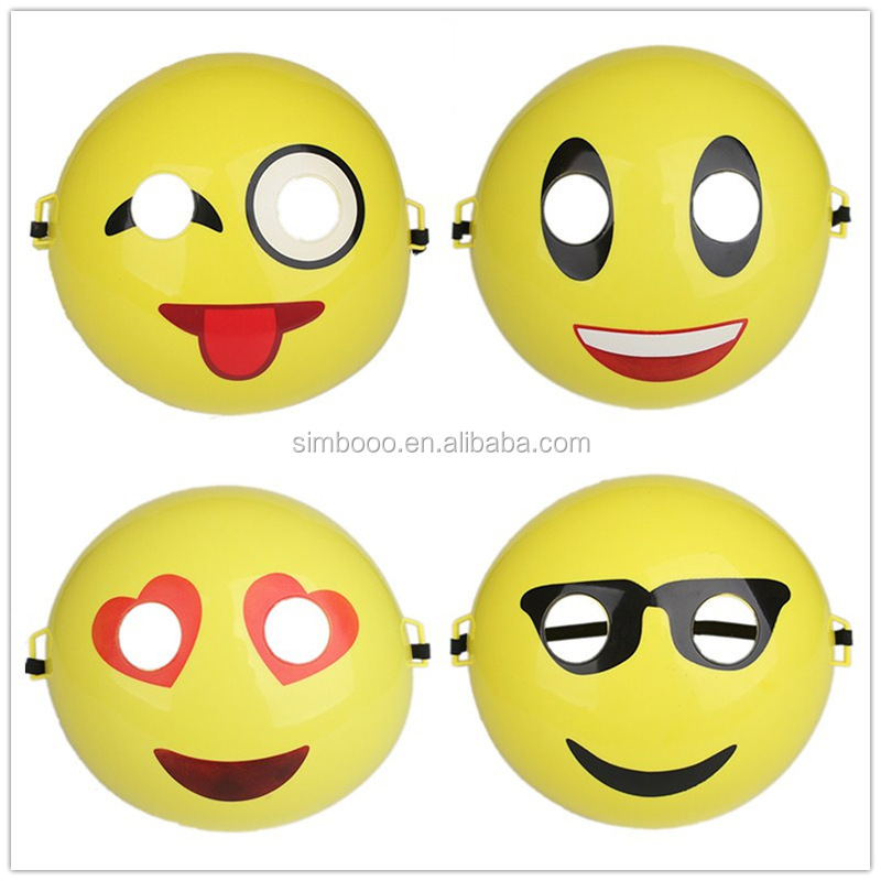 2017 Halloween mask, cartoon face mask, QQ children's smiling