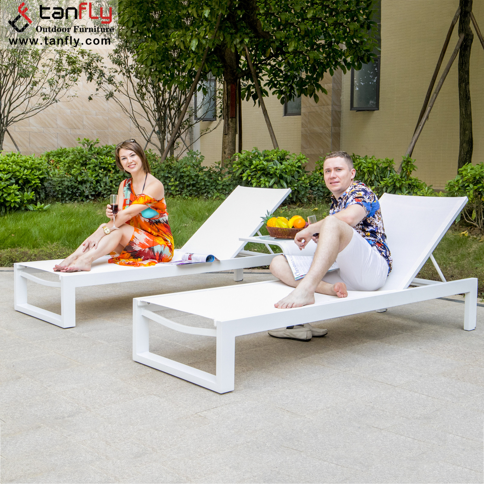 Aluminium furniture Swimming Pool patio garden chaise lounge