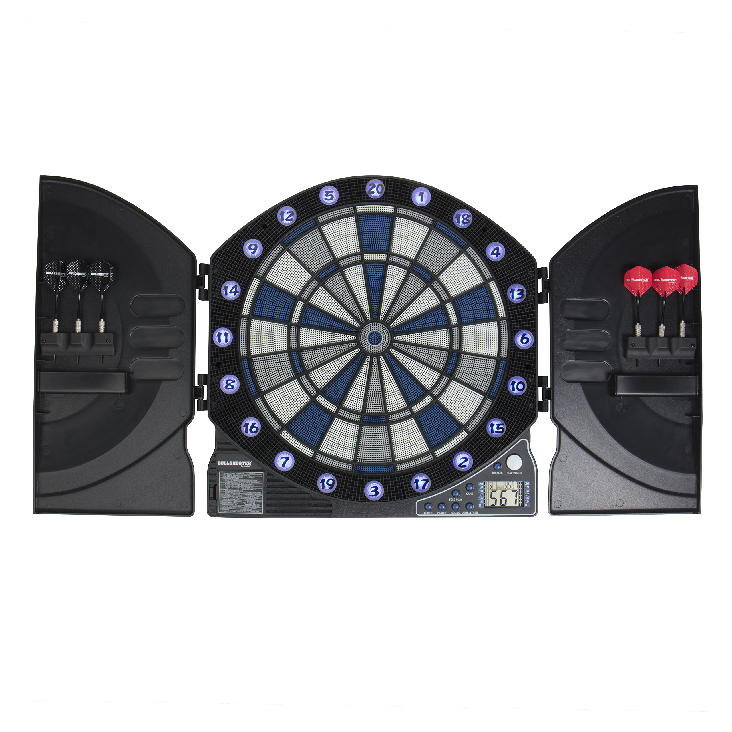 Bullshooter by Arachnid Illuminator 3.0 Light Up Dartboard Cabinet Set
