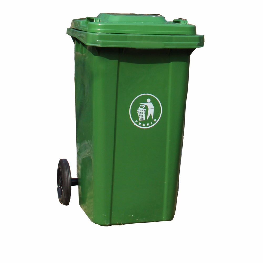 small trash can with lid and wheels