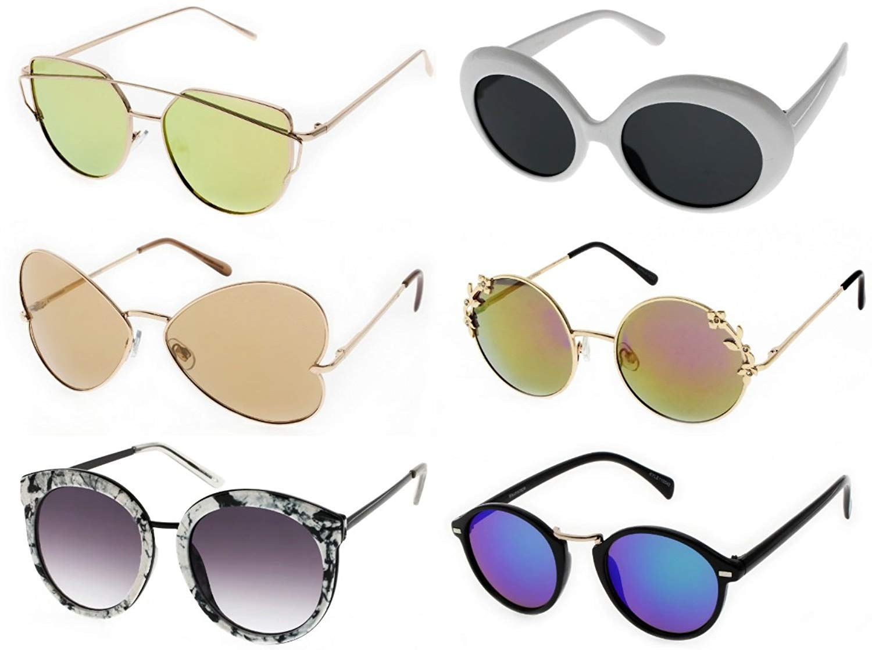 4244a2f6ca6 Get Quotations · COACHELLA SUNGLASSES - Festival Sunglasses (6 Pack).  Assorted Trendy and Stylish Retro Sunglasses