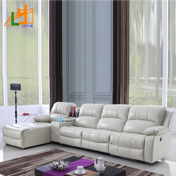 Wholesale Living Room Sectional Furniture L Shaped Luxury Sofa Sets White  Genuine Leather Recliner Sofa For Living Room - Buy Living Room Sofa,Luxury  ...
