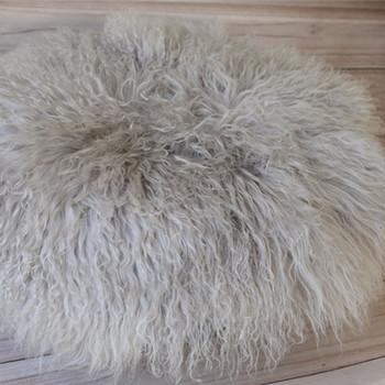 Curly Wool Layer Rug Newborn Round Blanket Flokati Felt Fur Backdrops Studio Photography Props