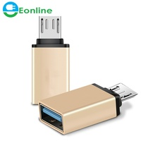 EONLINE Aluminum Alloy Mini OTG Cable USB3.1 OTG Adapter Micro USB to USB Converter for Tablet PC Android For Samsung S6 Tablet