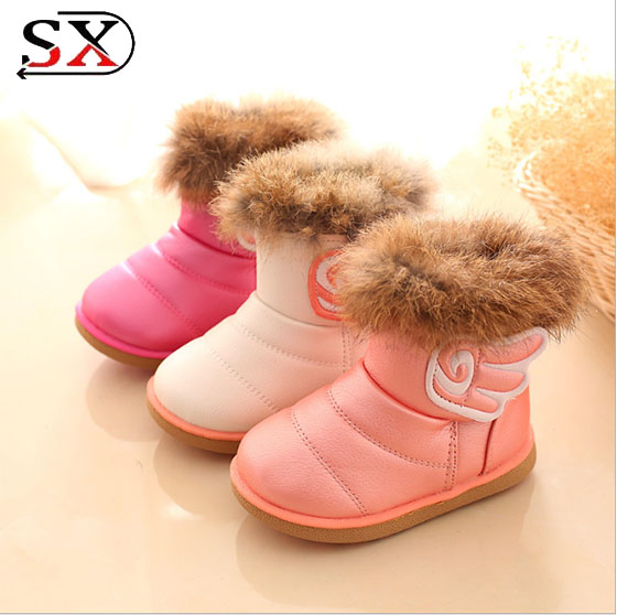 Warm Boots Baby shoes, Girl's sweety Winter Shoes baby ,Nice Shoes for baby with wing