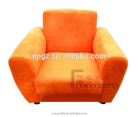 Orange modern fabric children sofa, sofas Dubai for nursery school, furniture kids sofas Dubai