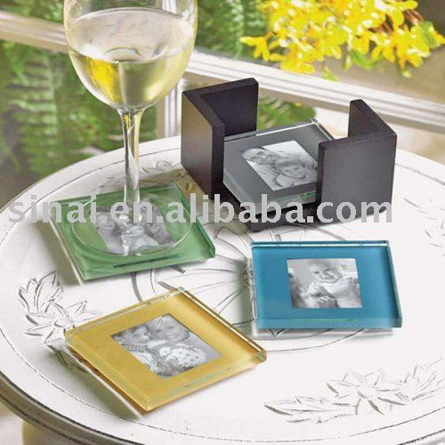 Glass Photo Holder Coasters, Glass Photo Holder Coasters Suppliers ...