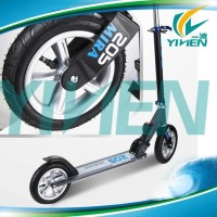 Wholesale 205mm large wheel adult urban scooter,Pump wheels kick scooter for adult