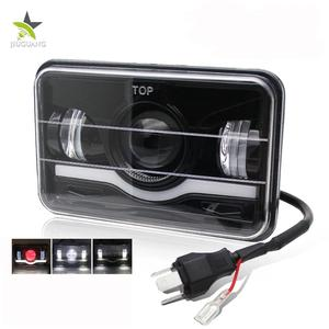4x6inch Auto Parts Red Parking Lights Angel Eye DRL Truck Led Headlights,45W Square 4x6 Led Headlight 4x4