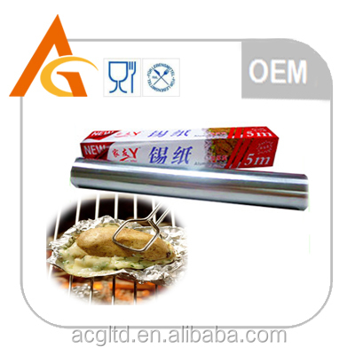 food grade packaging and cooking aluminum foil