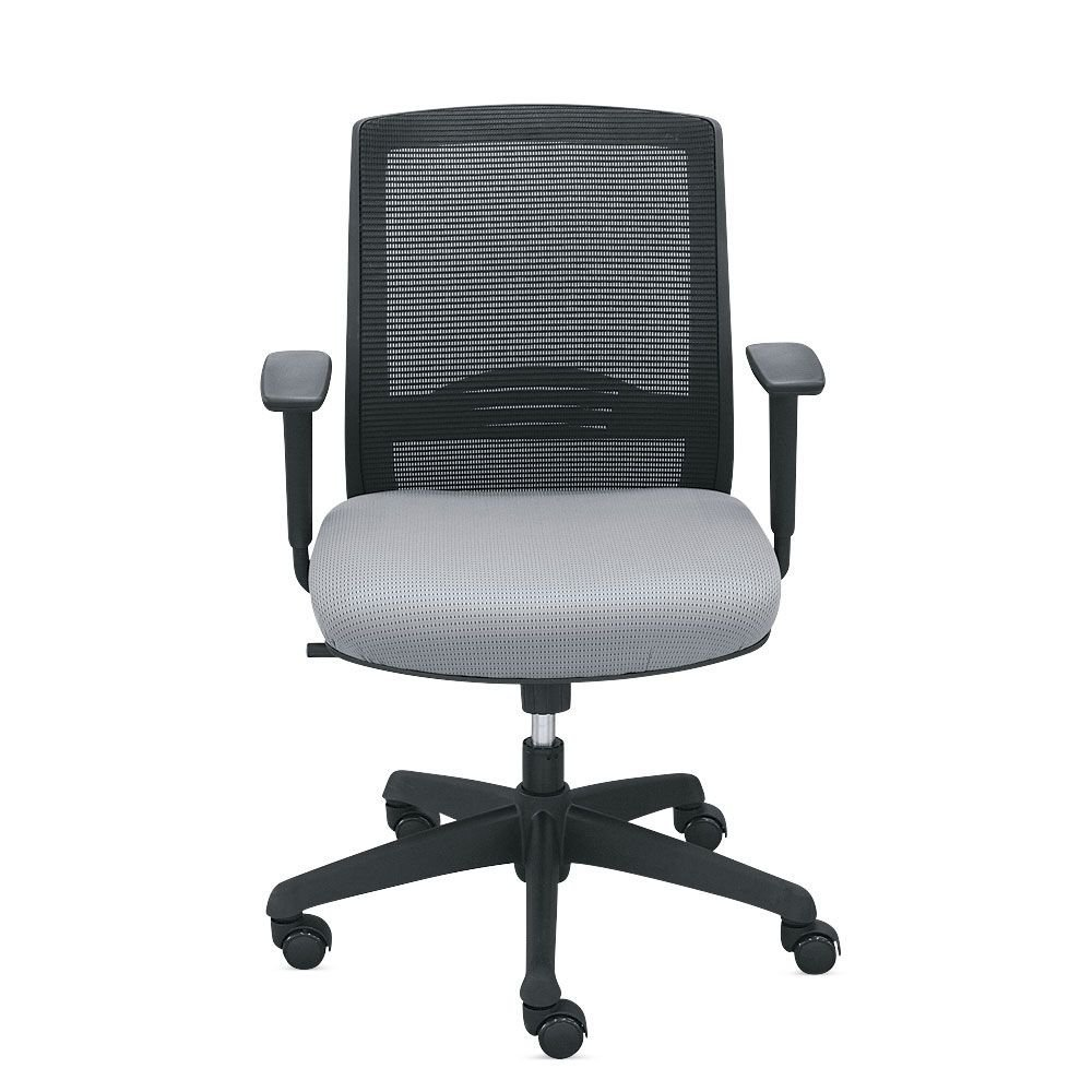 """Mesh Back Chairs with Memory Foam - Set of 8 Dimensions: 24.75""""W x 22.75""""D x 37.188""""H Seat Dimensions: 19""""Wx20""""Dx17-20.5""""H Weight: 290 lbs. Gray Mesh Back/Gray Fabric Seat/Black Frame"""