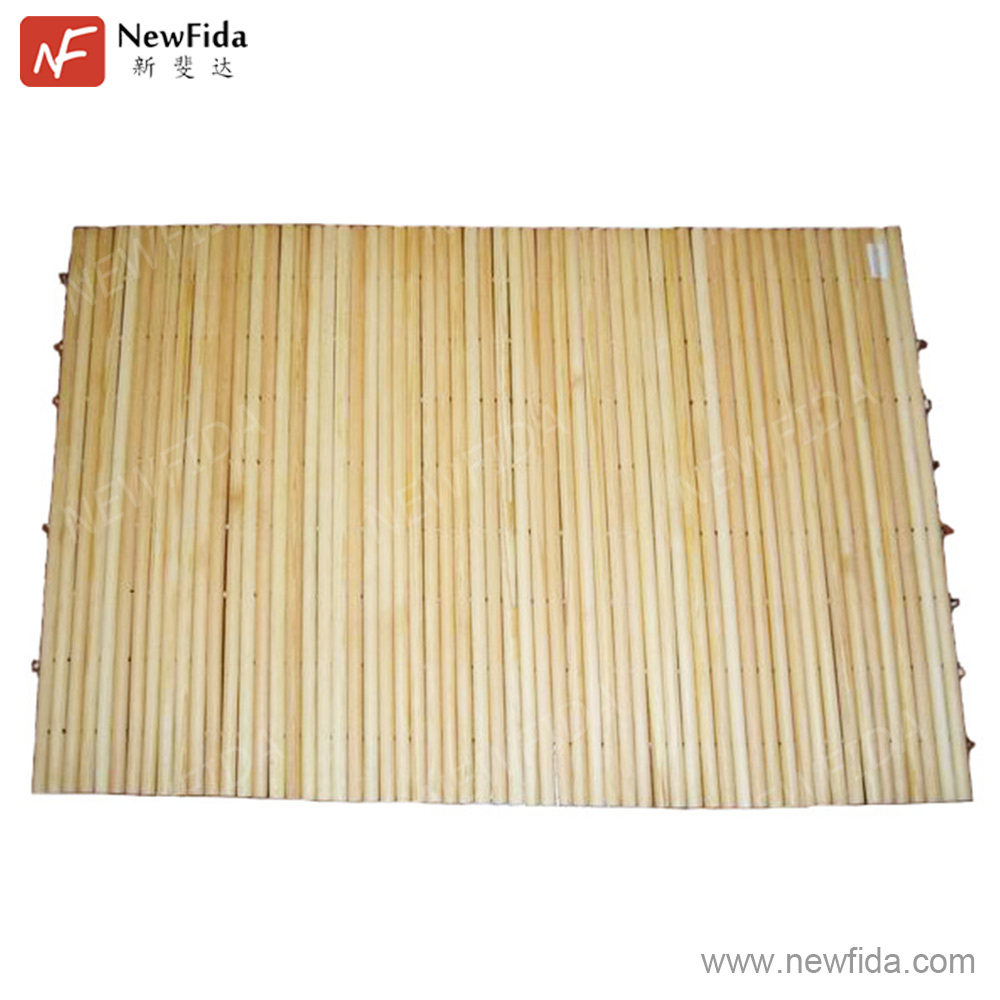 Natural Log Wood Floor Mat Wood Massage Mat