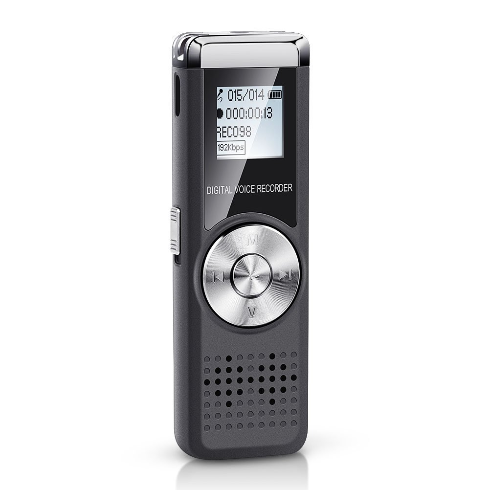 Jadeke Voice Recorder 16GB Digital Voice Device Audio Sound Activated Recorder USB Rechargeable Mini Recording Microphone Dictaphone Voice Recorder for Lectures Meetings with MP3 Player