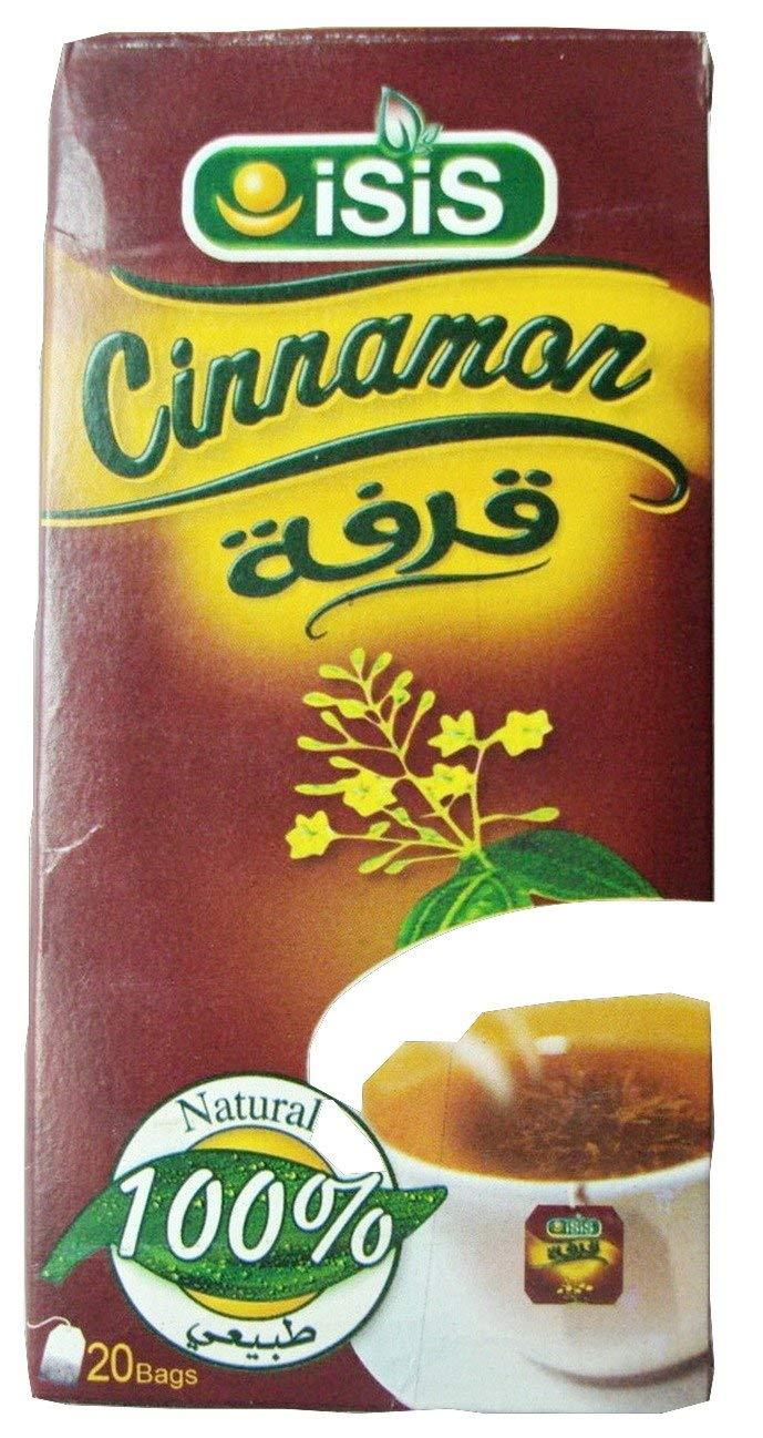 100% Organic ISIS Natural Herbal Egyptian Cinnamon Tea 25 & 50 bags قرفة (25 BAGS) 384