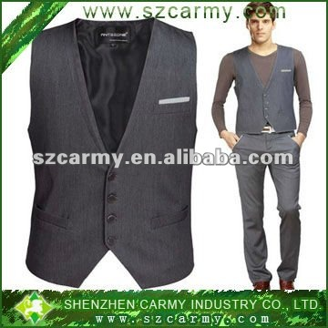 Polyester Classical British style Men's Formal Suit wedding Vest