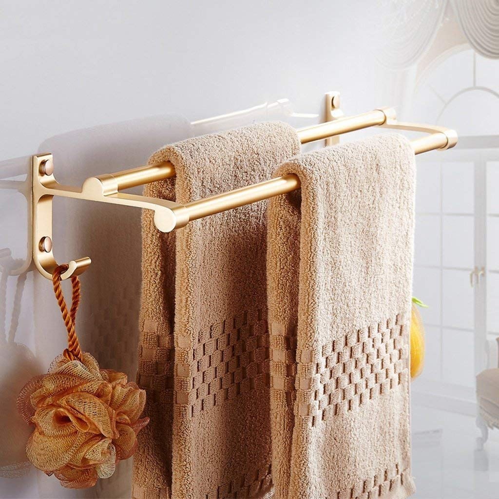 EQEQ Golden Space Towel Holder Aluminum Double Towel Rack Towel Rack Towel Rack Bath Rooms Hardware Continental Trailers
