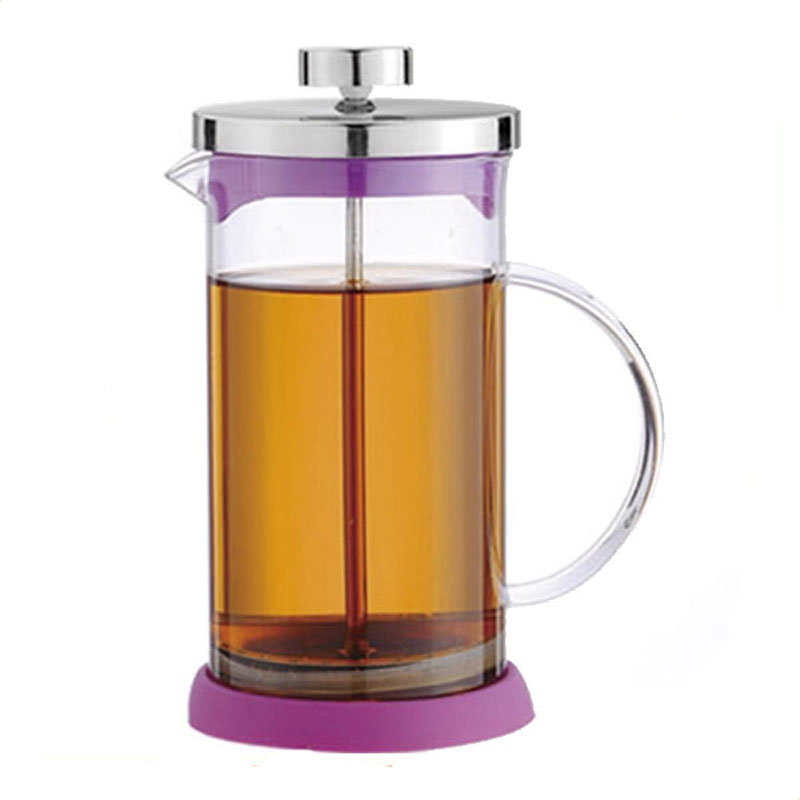 Modern Insulated Glass Durable Espresso French Press With Silicone Base