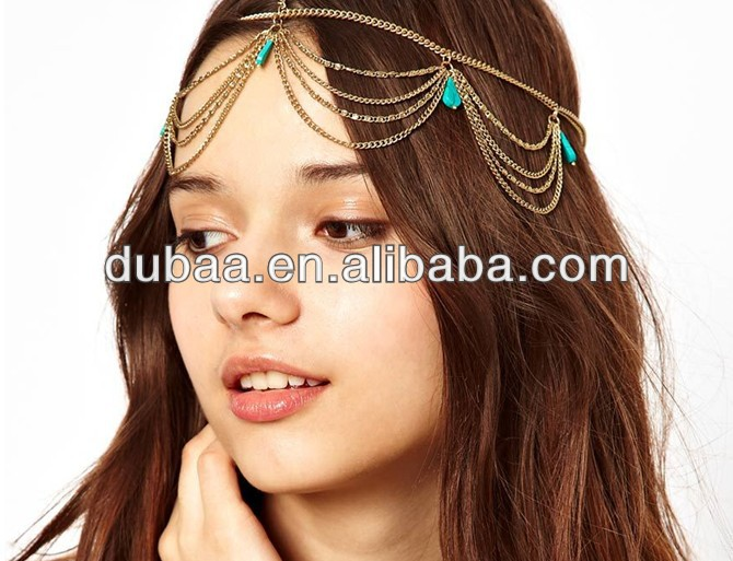 Chain Headpiece-Chain Headdress Head Chain,Head Chain Wholesale,Gemstone Hair Accessory,Chain Hair Accessories,Hair Bands Bohemi