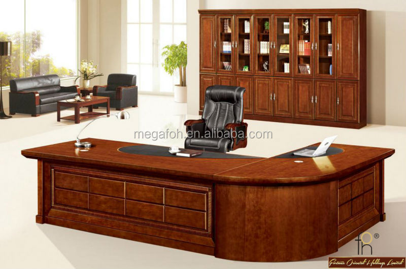 High End CEO Office Desk / High Class Executive Table With Chair (FOHS A3276