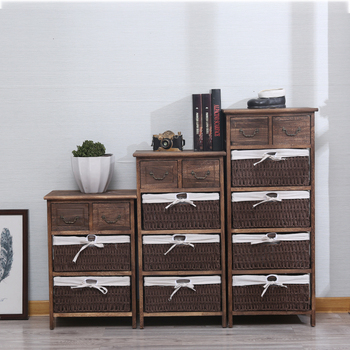 Exceptionnel Countryside Living Room Wood Side Cabinet Design With Drawers