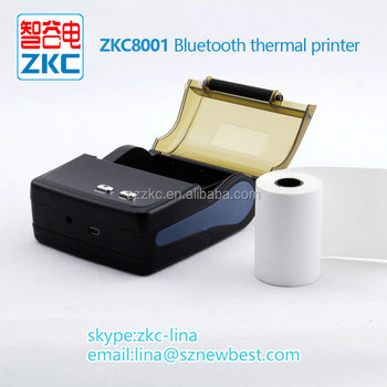 Zkc8001 Thermal Receipt 3 Inch Mini Printer With High Speed Printing By  Bluetooth - Buy Thermal Mini Pos Printer,Mini Thermal Portable Printer With
