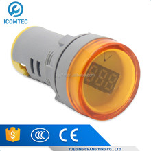 Mini type digital display LED Signals Indicator light with AC Voltage Meter voltmeter