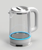 Best Seller 304 Stainless Steel Material Electric Glass Kettle 0.5L Mini Electric Kettle 360Degree Rotation Electrical Kettle