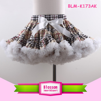 Wholesale Baby Girls Satin Pettiskirt Fashion Chiffon Tutu Skirt For Girls