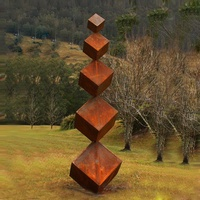 Contemporary Design Garden Corten Steel Sculpture