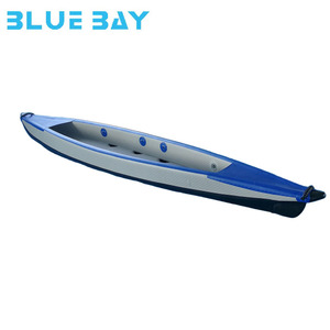 drop stitch 2 person inflatable fishing kayak with removable fabric seats